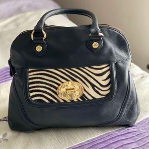 Emma Fox Leather Saranac Satchel/Shoulder Bag.